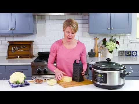 Slow Cooker Pepper Jack Cauliflower