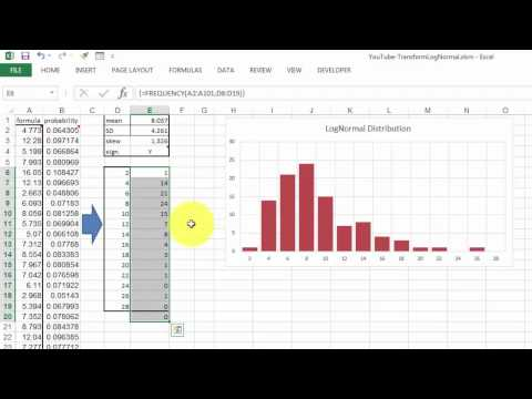 Transforming Data with a LogNormal Distribution