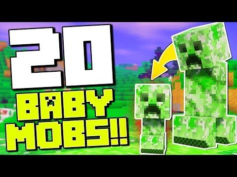 20 BABY MINECRAFT MOBS!! | Minecraft Mods