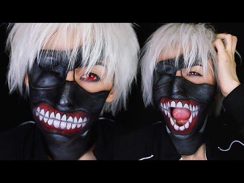 Kaneki Ken Mask Makeup | Tokyo Ghoul | #CourtneyLittleHalloween