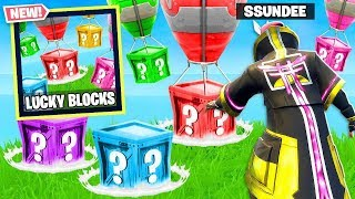 Lucky Blocks *new* Game Mode In Fortnite Battle Royale