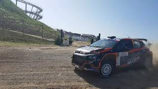 Alexey Lukyanuk warmup before SS10, PZM 76 Rally Poland 30.06.2019