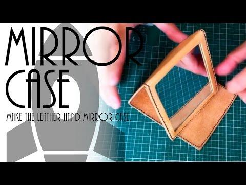 革製手鏡ケースを作る