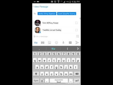 Creating a group message in Facebook Messenger