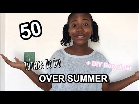 Summer Bucket List Ideas!    Things To Do Over Summer + DIY Bored Jar
