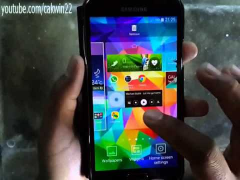 Samsung Galaxy S5: How to find widget