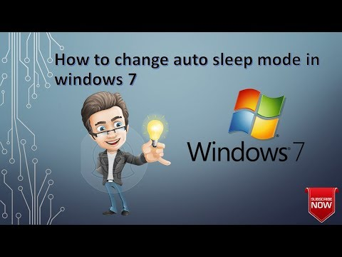 how to change auto sleep mode in Windows 7