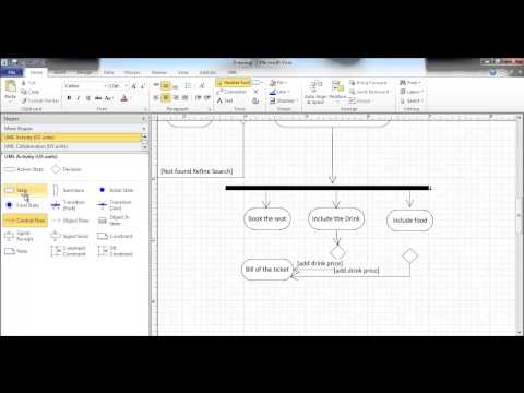Activity Diagram using Visio online Airline booking