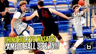 LaMelo Ball GOES FULL STEPH CURRY MODE!! Chino Hills SPANK Top Utah Team w/ Lonzo Ball Watching!!