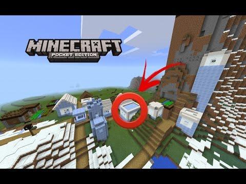 Snow village at spawn w/ blacksmith seed for Minecraft PE and Windows 10 Beta!!!