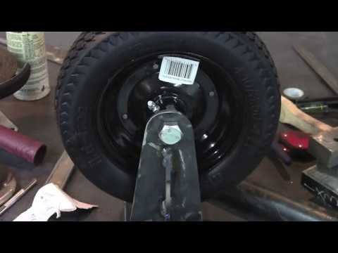 Making a heavy duty gate wheel