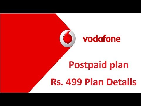 Vodafone RED ₹ 499 Plan Details For Postpaid User