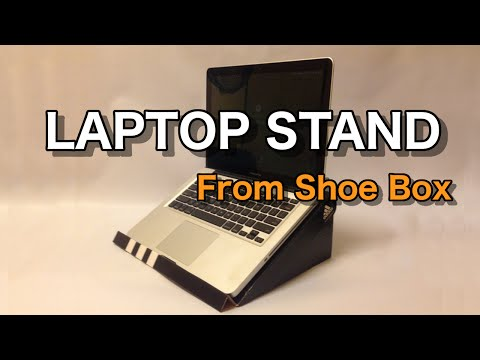 How to make Laptop Stand from a Shoe Box : Easy