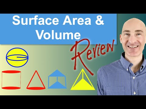 Surface Area and Volume Review (Geometry)