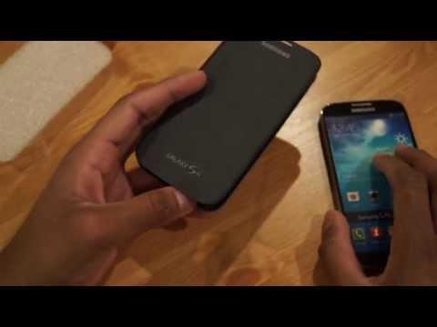 Official Samsung Galaxy S4 Flip Cover EF-FI950BBEGWW