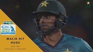 Shoaib Malik SIX! to Imran Tahir - Independence Cup 2017 | Pakistan vs World XI