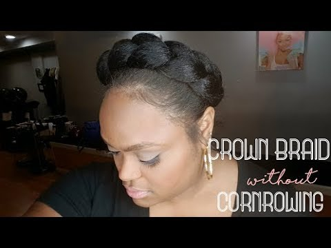 Faux Halo/Crown Braid WITHOUT Cornrowing