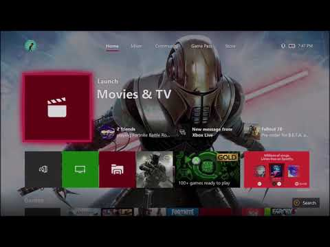 How to change xbox one dashboard background