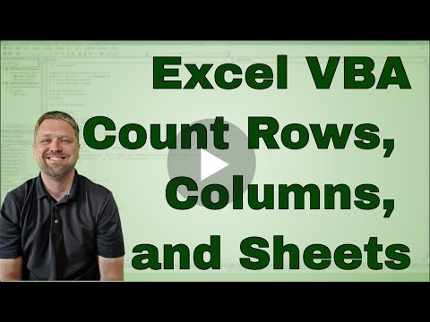 Using Count in Excel VBA (Macro) - Most Common Uses and the Code is Included