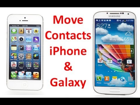 How to Transfer Contacts Between iPhone & Samsung Galaxy
