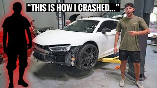 We Found the Wrecked Audi R8's Previous Owner! We Have Crashed Footage!