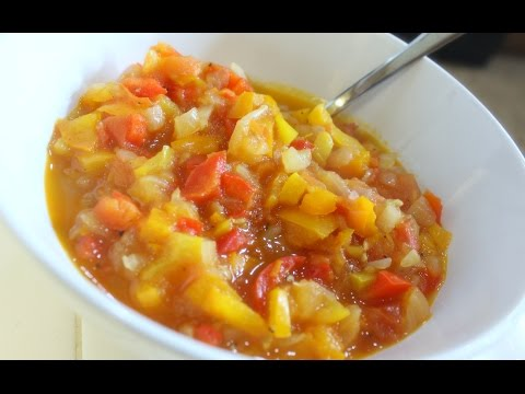Stay Fit Sunday | Tomato, Bell Pepper and Onion Stew