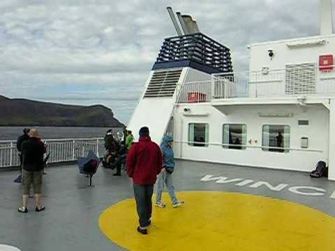 Leaving the Orkneys by ferry