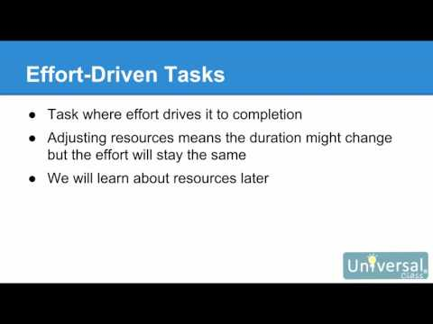 Lesson 4: Entering and Scheduling Tasks - Microsoft Project 2016 Course