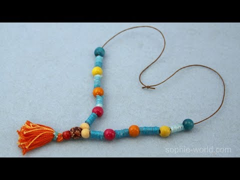 How to Make a Beaded Tassel Necklace | Sophie's World