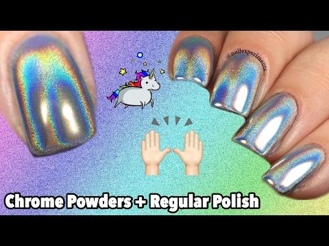 HOW TO USE CHROME POWDERS WITH REGULAR NAIL POLISH