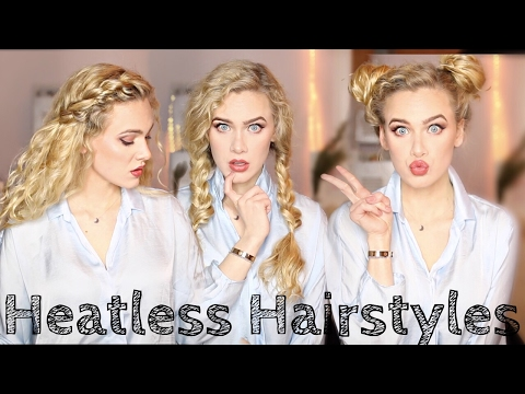 8 HEATLESS Hairstyles for Wavy/Curly Hair | India Batson