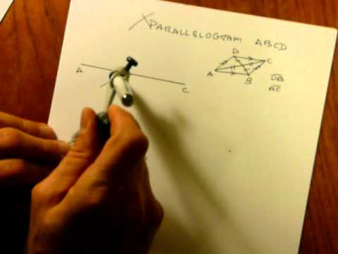 How to Construct a Parallelogram from Diagonals