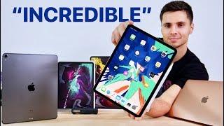 2018 iPad Pro Unboxing! 11 & 12.9-inch, MacBook Air & Apple Pencil 2!