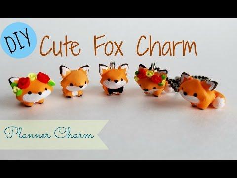 DIY Cute Fox Charm- Planner Charm