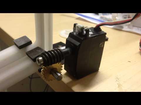 Gimbal lift system - gear close up