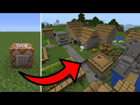 Minecraft PE - How To Spawn Villages With Commands! (1.2.0) Command Block Tutorial!