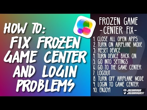 HOW TO FIX FROZEN GAME CENTER & LOGIN PROBLEMS (IOS 9)