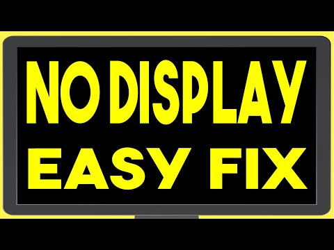Computer Turns On But No Display On Monitor - Troubleshoot & Easy Fix - Cpu Adaptor Plug Issue