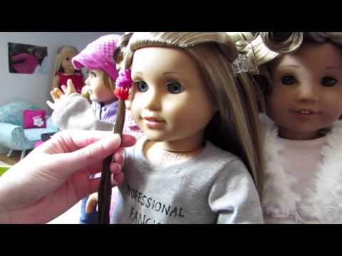 How to straighten your AG dolls hair! {WITHOUT HEAT}