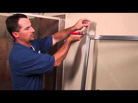 How to Install a Basco Framed Shower Door -  135/735 Shower Enclosure
