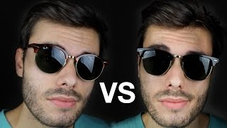 ray ban clubmaster size 49  Ray-Ban RB3016 Clubmaster Size Comparison