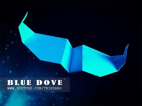 SIMPLE PAPER PLANE - How to make a paper airplane that FLIES | Blue Dove