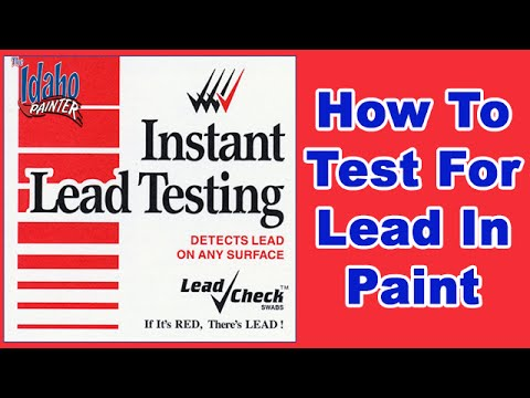 Testing A House For Lead In Paint.  Using A Lead Test Kit.