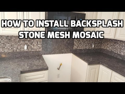 Install Stone Mosaic Wall Tile for a Kitchen Backsplash