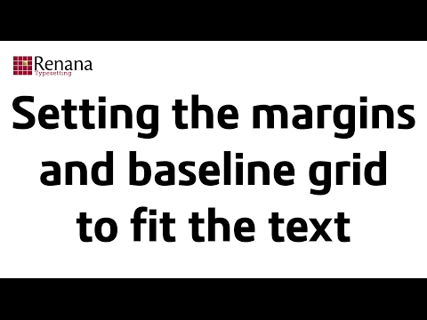 Setting the top and bottom margins and baseline grid in InDesign