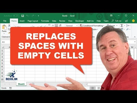 Learn Excel - Replace Spaces with Empty Cells - Podcast 2206