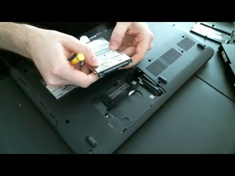 How to Install a Hard Drive into a laptop (PC)