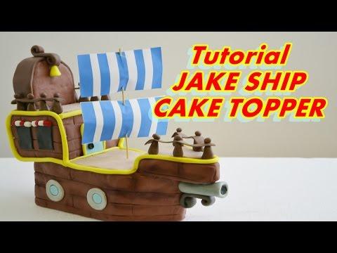 SHIP OF Jake and the Never Land Pirates Cake Topper FONDANT - PASTA DI ZUCCHERO GALEONE DEI PIRATI