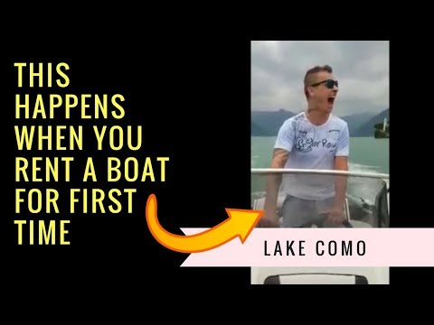🚤 Speed Boating Lake Como 👍 | Funny Speed Boat Ride ( Italy Road Trip )