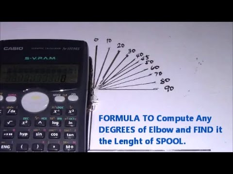 You Can Compute Now Any DEGREES ELBOW Find Total Length SPOOL #Pipefitter